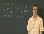 参数化直线及其交点